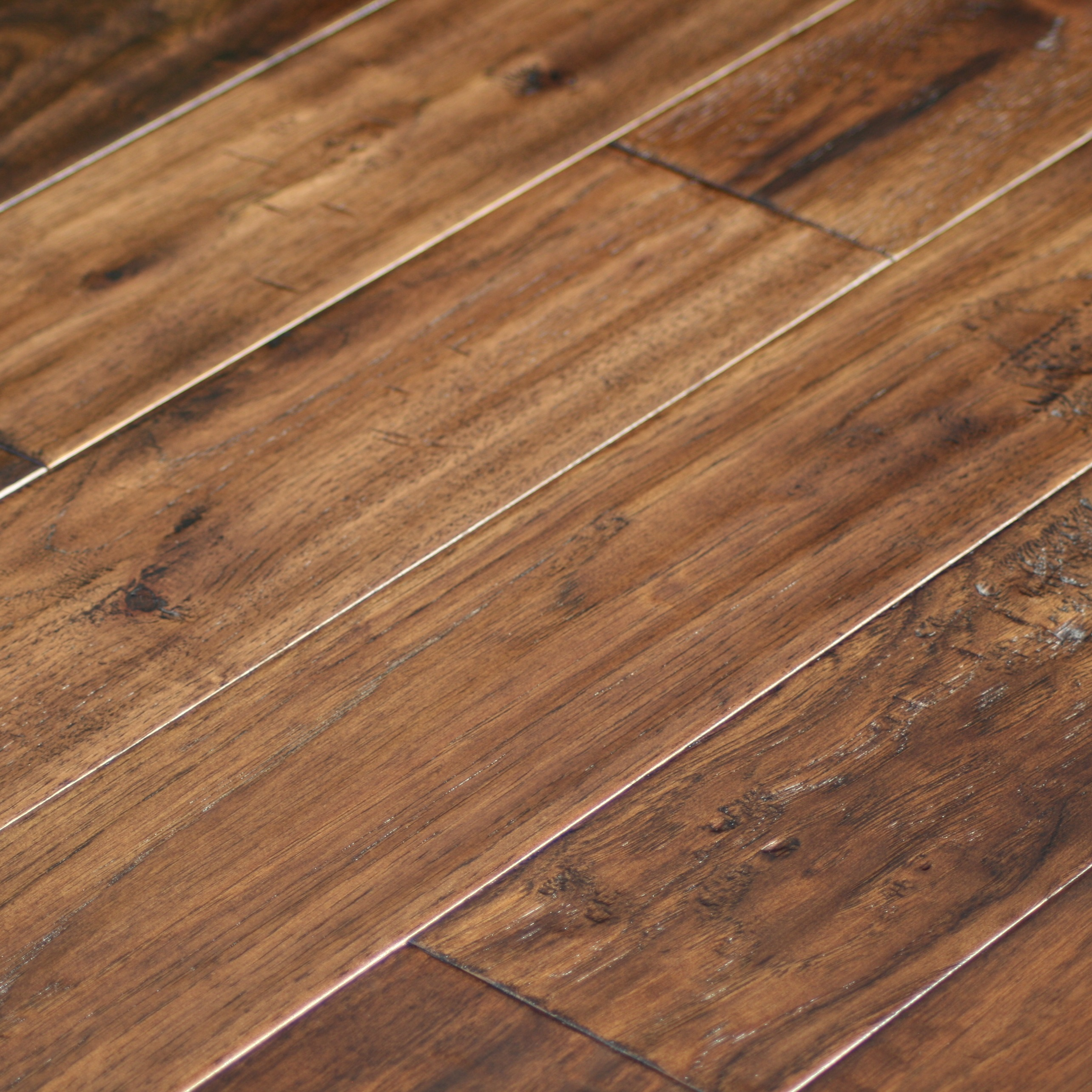 True heritage hickory caf hand scraped hardwood for Hickory flooring