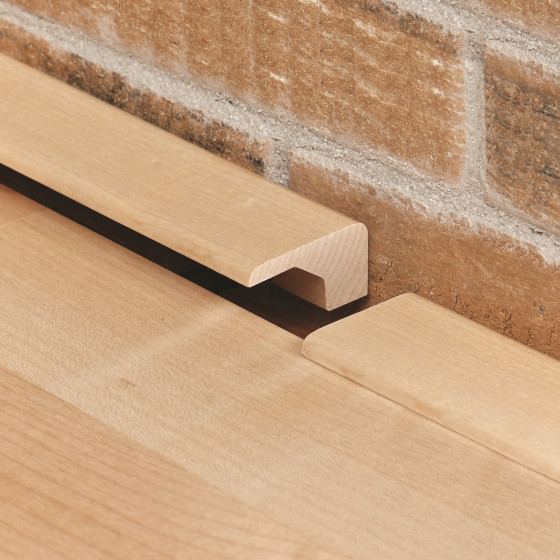 Square nose wood floor end cap transition molding for for Square hardwood flooring