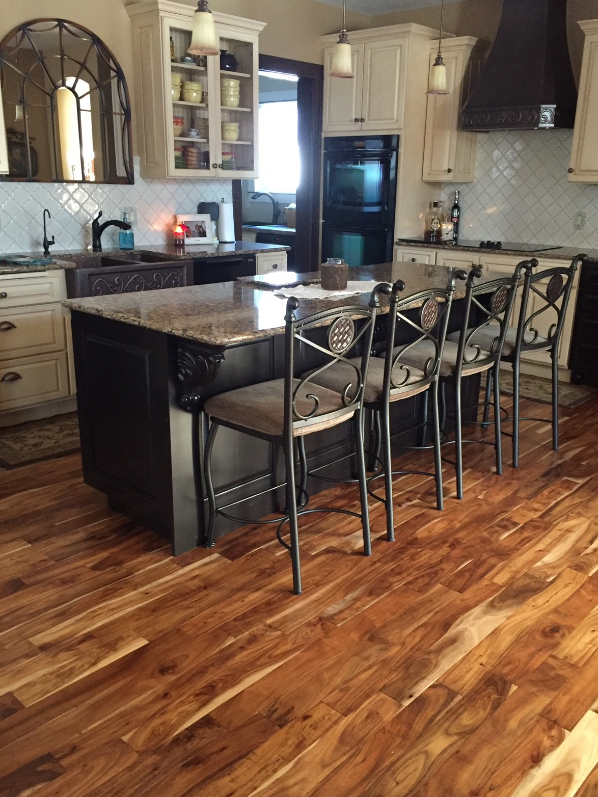 Acacia Natural Plank Kitchen Hardwood Flooring