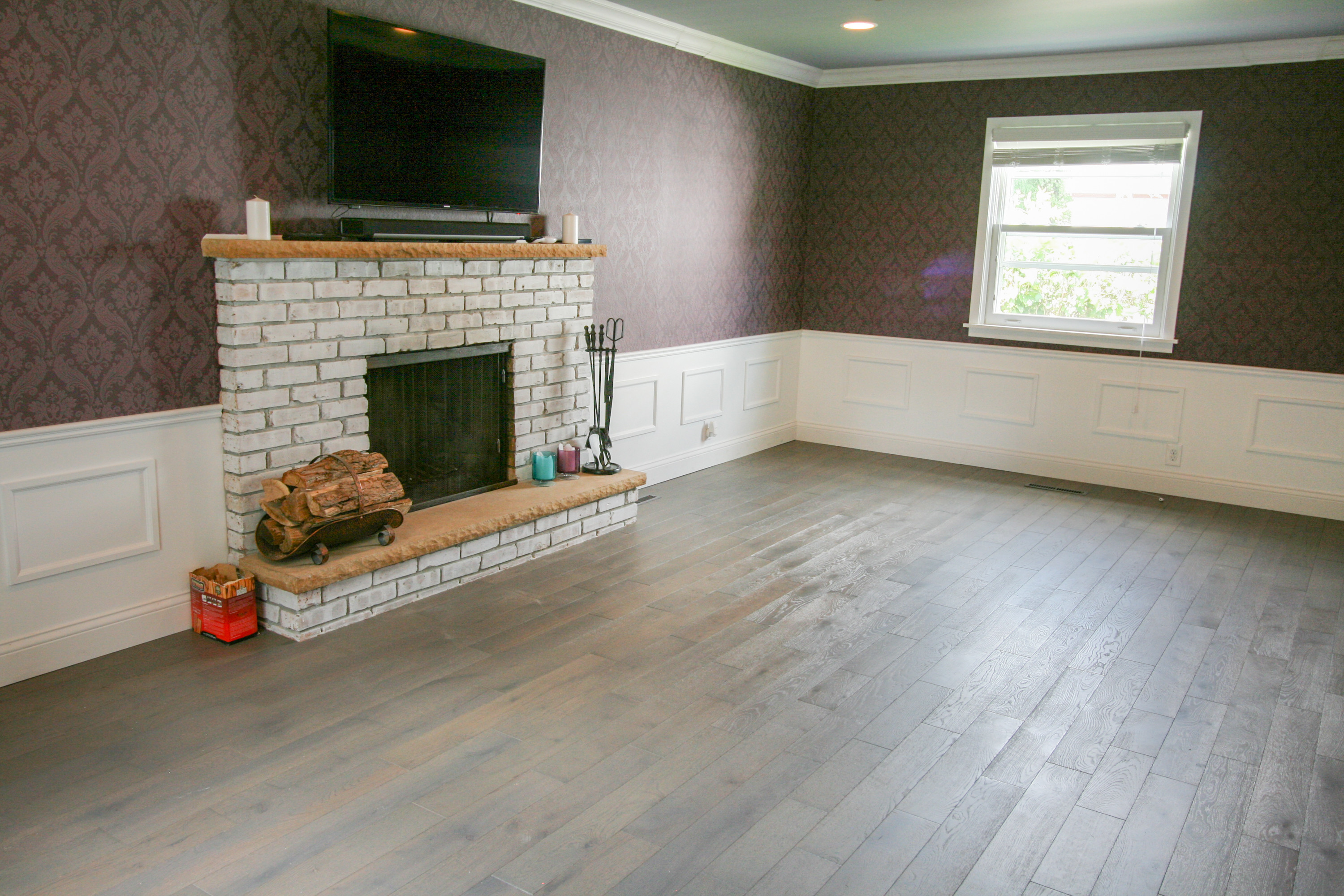 Boardwalk Husky Hardwood Flooring Grey White Oak Oil