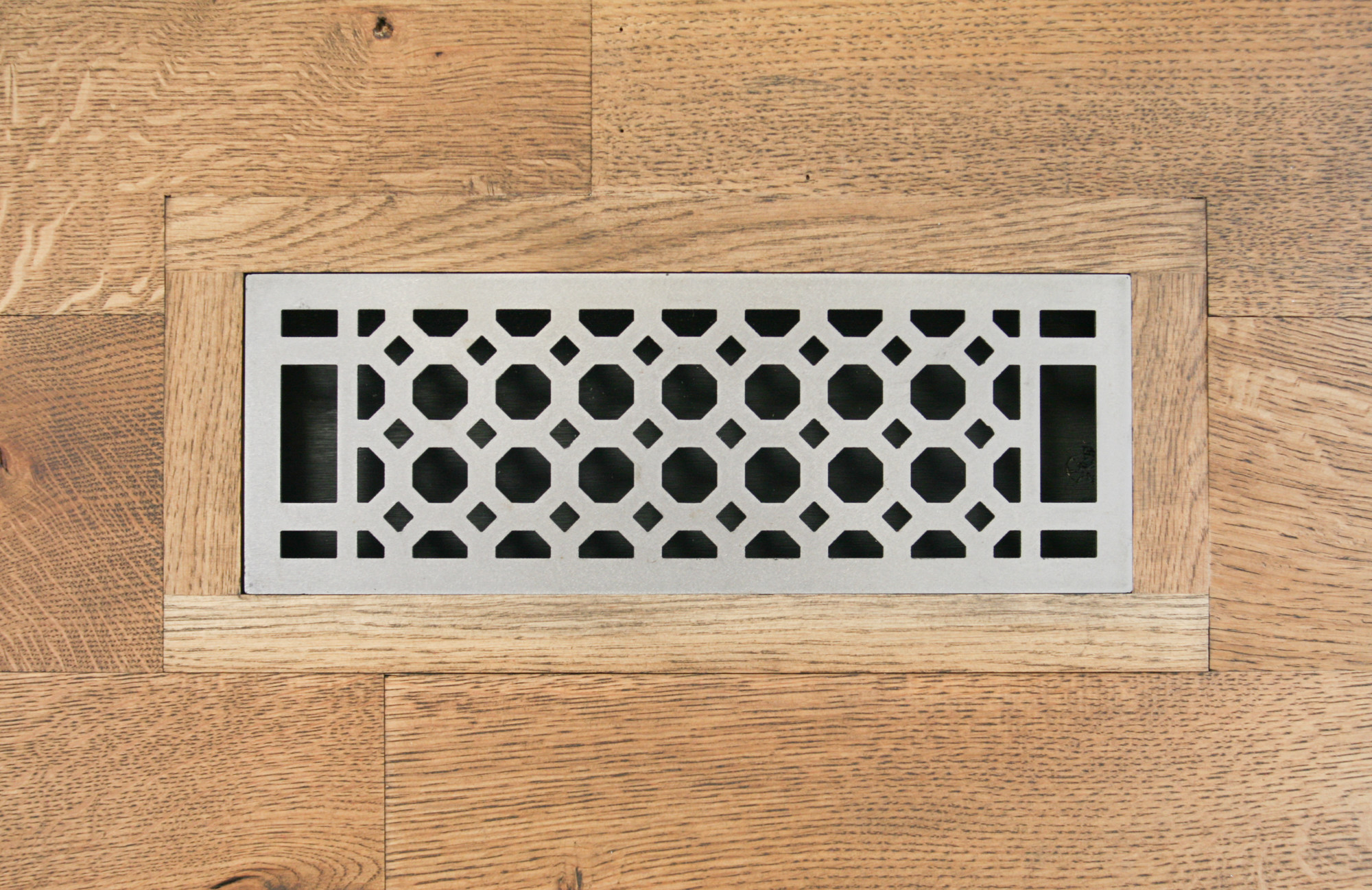 Eternal Octagon Vent Register Flush Mount Carbon Steel
