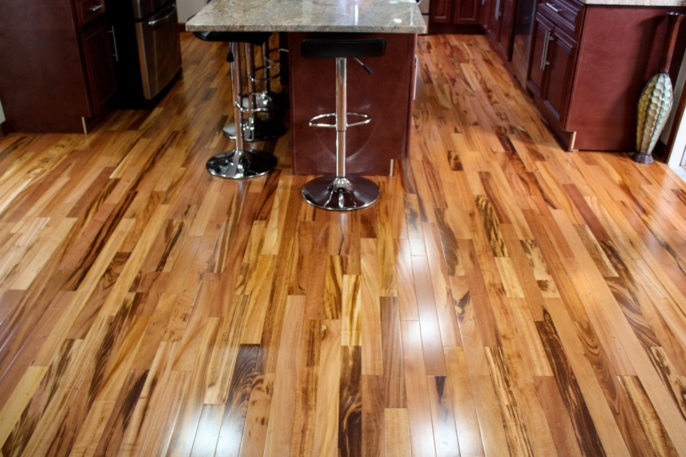 Tigerwood plank hardwood flooring prefinished solid hardwood floors elegan - Vernis bois exotique ...