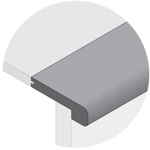 Remains Charcoal Flush Mount Stair Nose