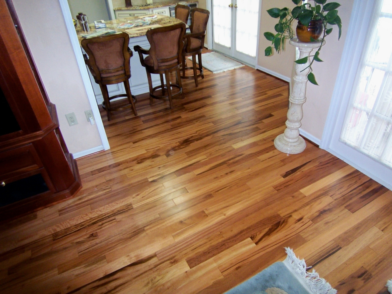 Triangulo Tigerwood Prefinished Solid Hardwood Floors