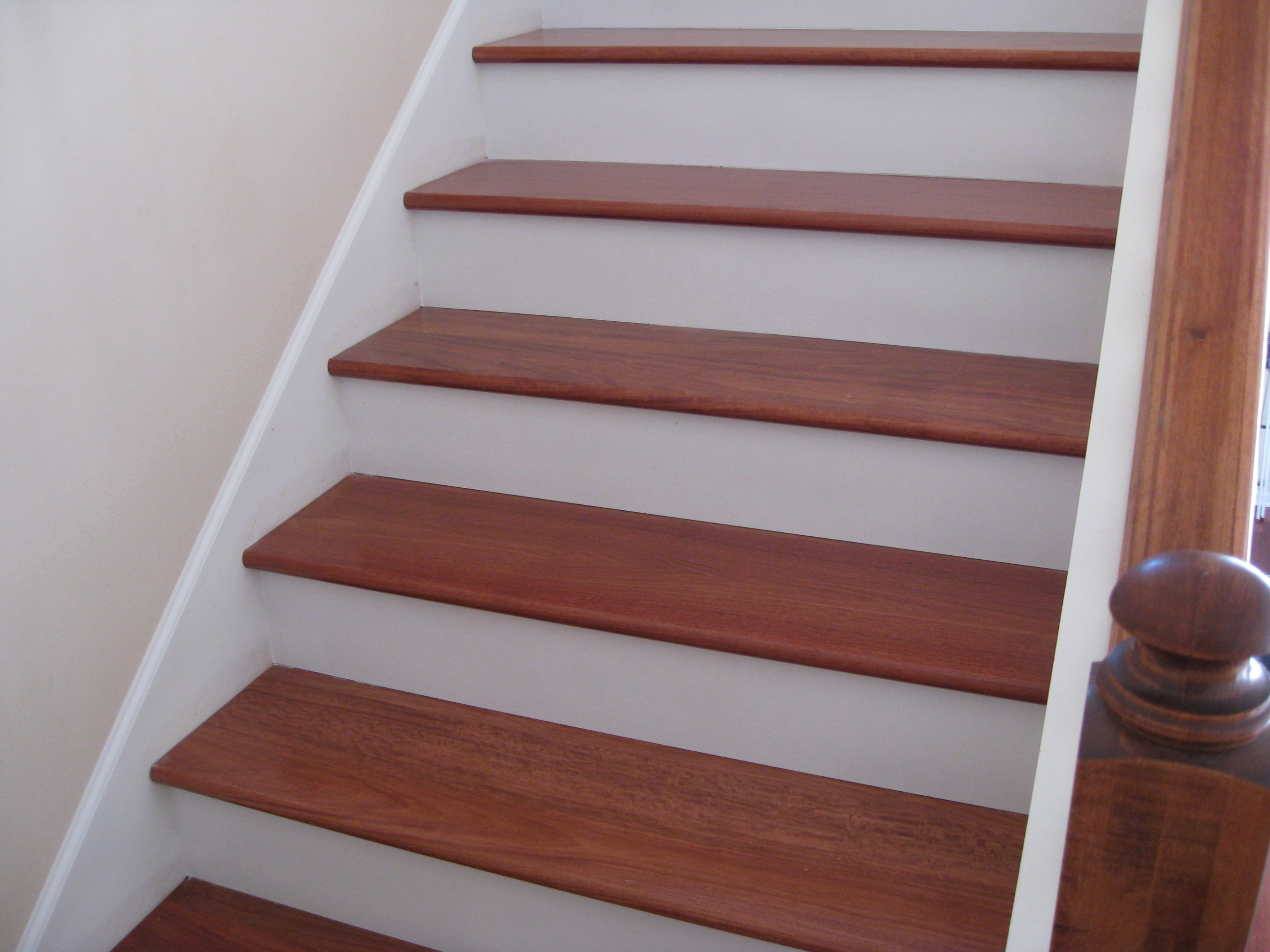 Upgrade Stair Treads And Risers With Hardwood Unique Wood